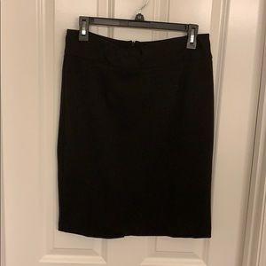 Black, stretchy pencil skirt